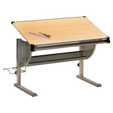 Inter Link Schülerschreibtisch Kinderschreibtisch Arbeitstisch Schreibtisch MDF Ahorn Nachbildung - 1