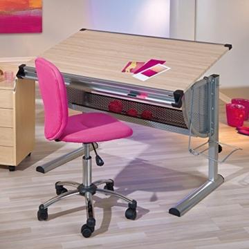 Inter Link Schülerschreibtisch Kinderschreibtisch Arbeitstisch Schreibtisch MDF Ahorn Nachbildung - 9